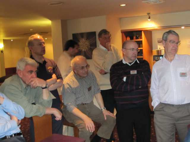 Richard, G4CGG, Geoff G4KFA, Chris G3NHL, Ian G3YBY and David M0VTG listen intently.JPG